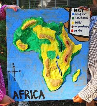 12912africa_3d_salt_dough_map